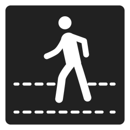 Pedestrian square icon