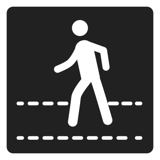 Pedestrian square icon Transparent PNG