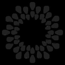 Flor de contorno de pétalo