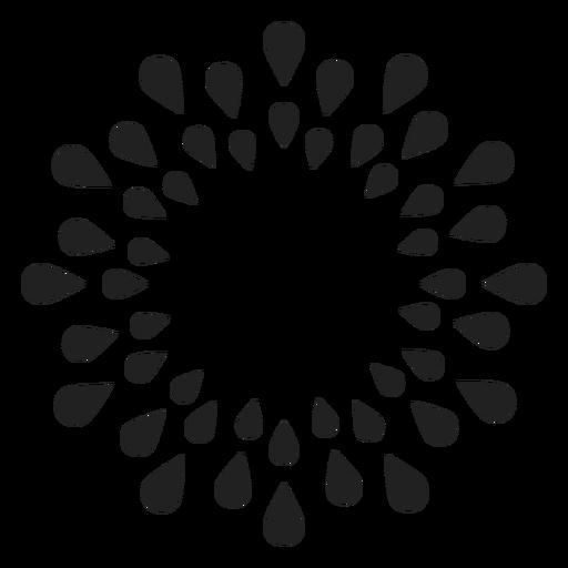 Flor de contorno de pétala Transparent PNG