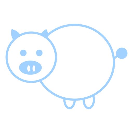 Pig line style vector Transparent PNG