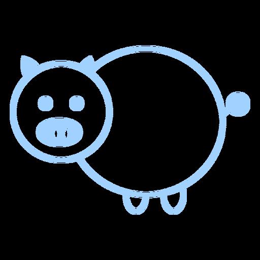 Vector de estilo de línea de cerdo Transparent PNG
