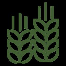Pilha, de, trigo, ícone