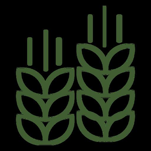 Pila de icono de trigo Transparent PNG