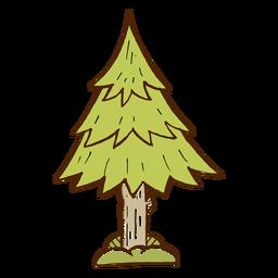 Icono de árbol de pino camping