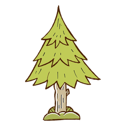 Pine tree icon camping