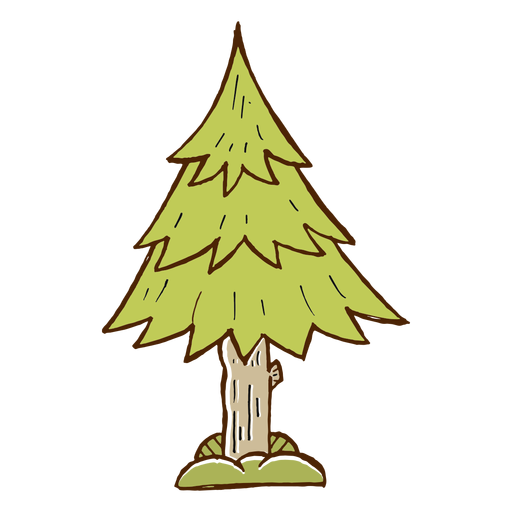Pine tree icon camping Transparent PNG
