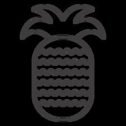 Ícone de traço de fruta abacaxi