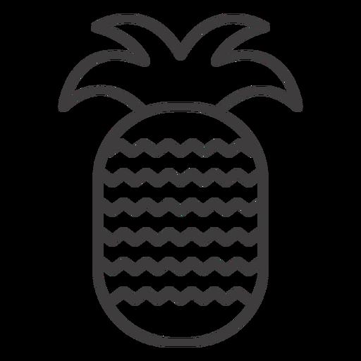 Icono de trazo de fruta de piña
