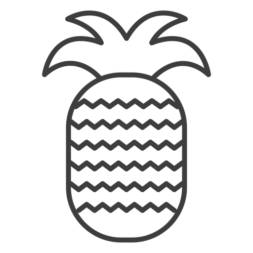 Pineapple fruit stroke icon Transparent PNG