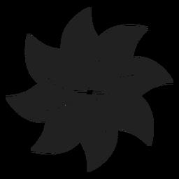Icono de flor en forma de molinillo