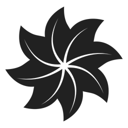 Pinwheel shaped flower icon