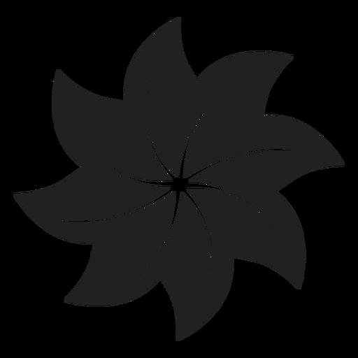 Ícone de flor em forma de cata-vento