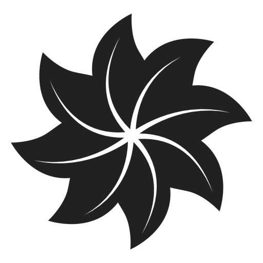 Pinwheel shaped flower icon