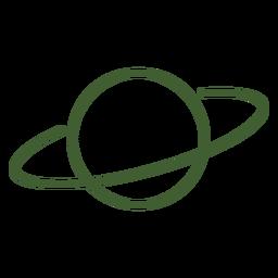 Planet saturn icon