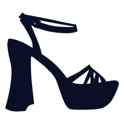 Platform shoes silhouette