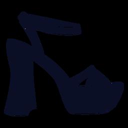 Sapatos de plataforma silhueta