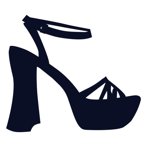 Platform shoes silhouette Transparent PNG