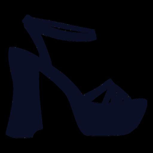 Zapatos de plataforma silueta Transparent PNG