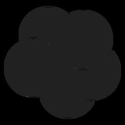 Icono de flor de plumeria