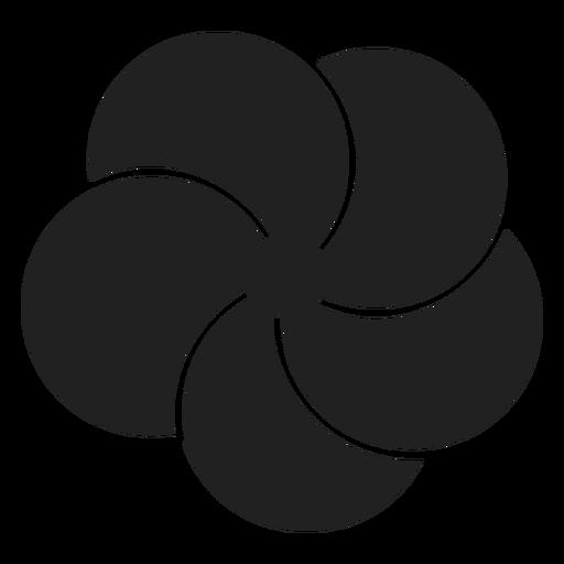 Plumeria flower icon Transparent PNG