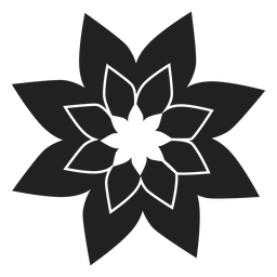 Poinsettia flower icon