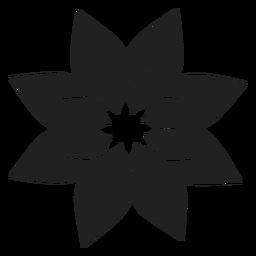 Weihnachtsstern-Blume-Symbol