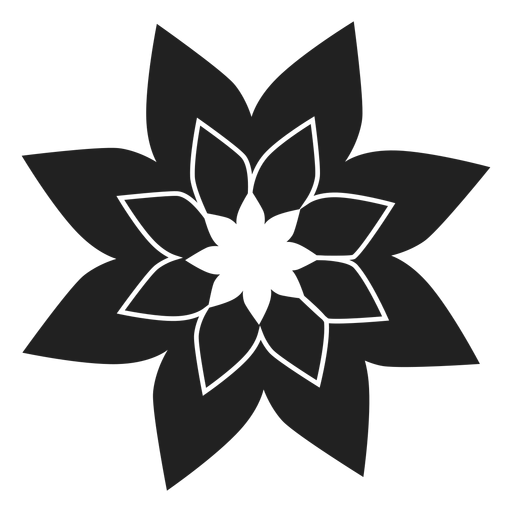Poinsettia flower icon Transparent PNG