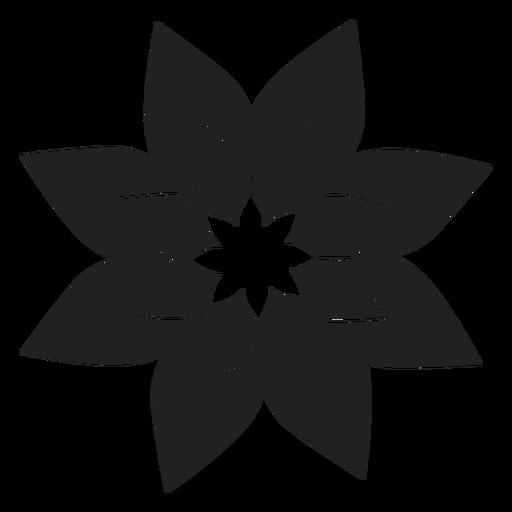 Weihnachtsstern-Blume-Symbol Transparent PNG