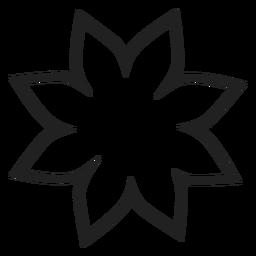 Ícone de contorno de flor poinsettia