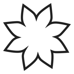 Poinsettia flower outline icon