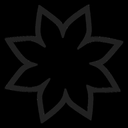 Icono de contorno de flor de Pascua Transparent PNG