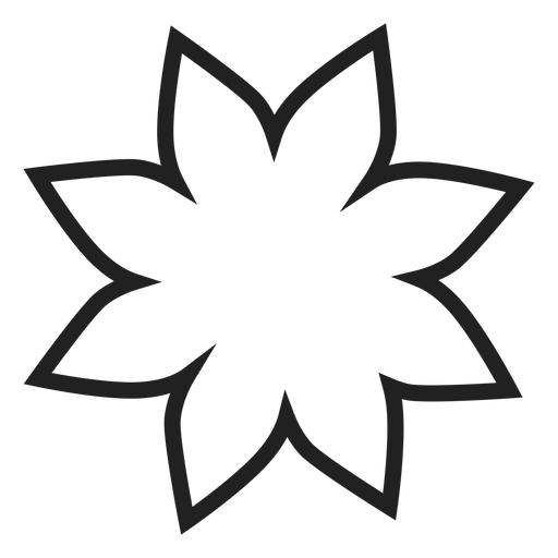 Poinsettia flower outline icon Transparent PNG