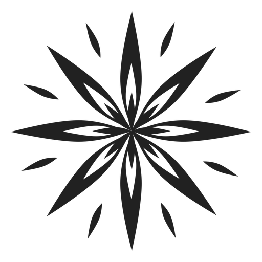 Pointed eight petal flower icon Transparent PNG
