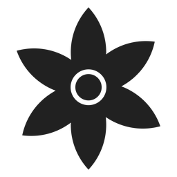 Pointed petal flower vector