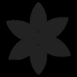 Pointed petal flower vector