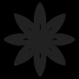 Icono de flor de pétalos puntiagudos
