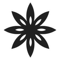 Pointed petals flower icon