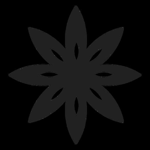 Icono de flor de pétalos puntiagudos Transparent PNG