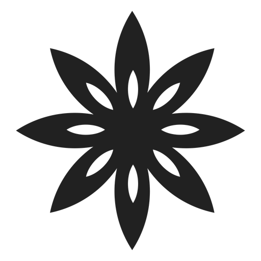 Pointed petals flower icon Transparent PNG