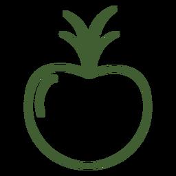 Icono de fruta de granada