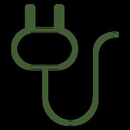 Ícone de ficha de alimentação