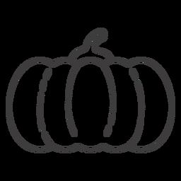 Pumpkin stroke icon calabaza
