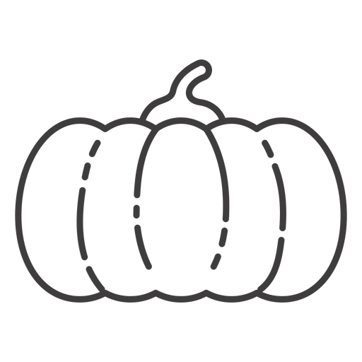 Pumpkin stroke icon pumpkin Transparent PNG