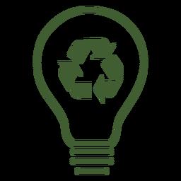 Reciclar ícone de lâmpada