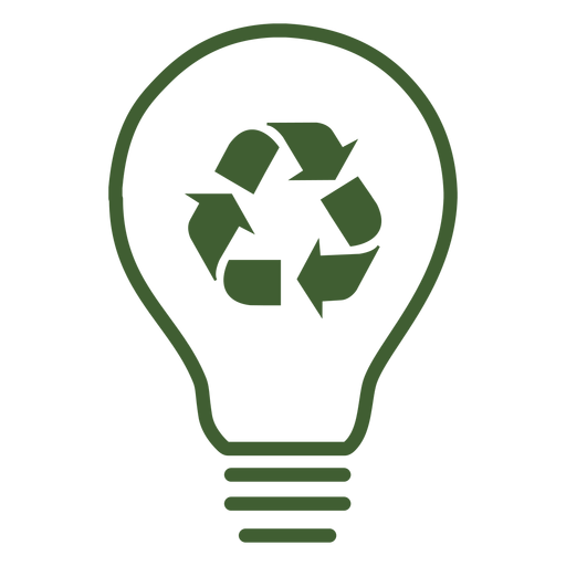 Recycle light bulb icon Transparent PNG