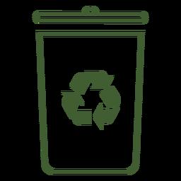 Icono de papelera de reciclaje