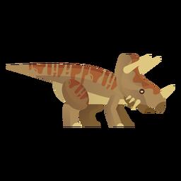 Vetor de dinossauro rinoceronte