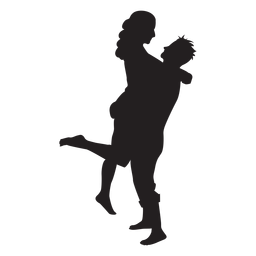 Romantische paar silhouette paar