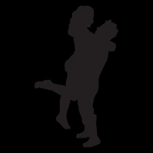 Pareja romántica silueta pareja Transparent PNG